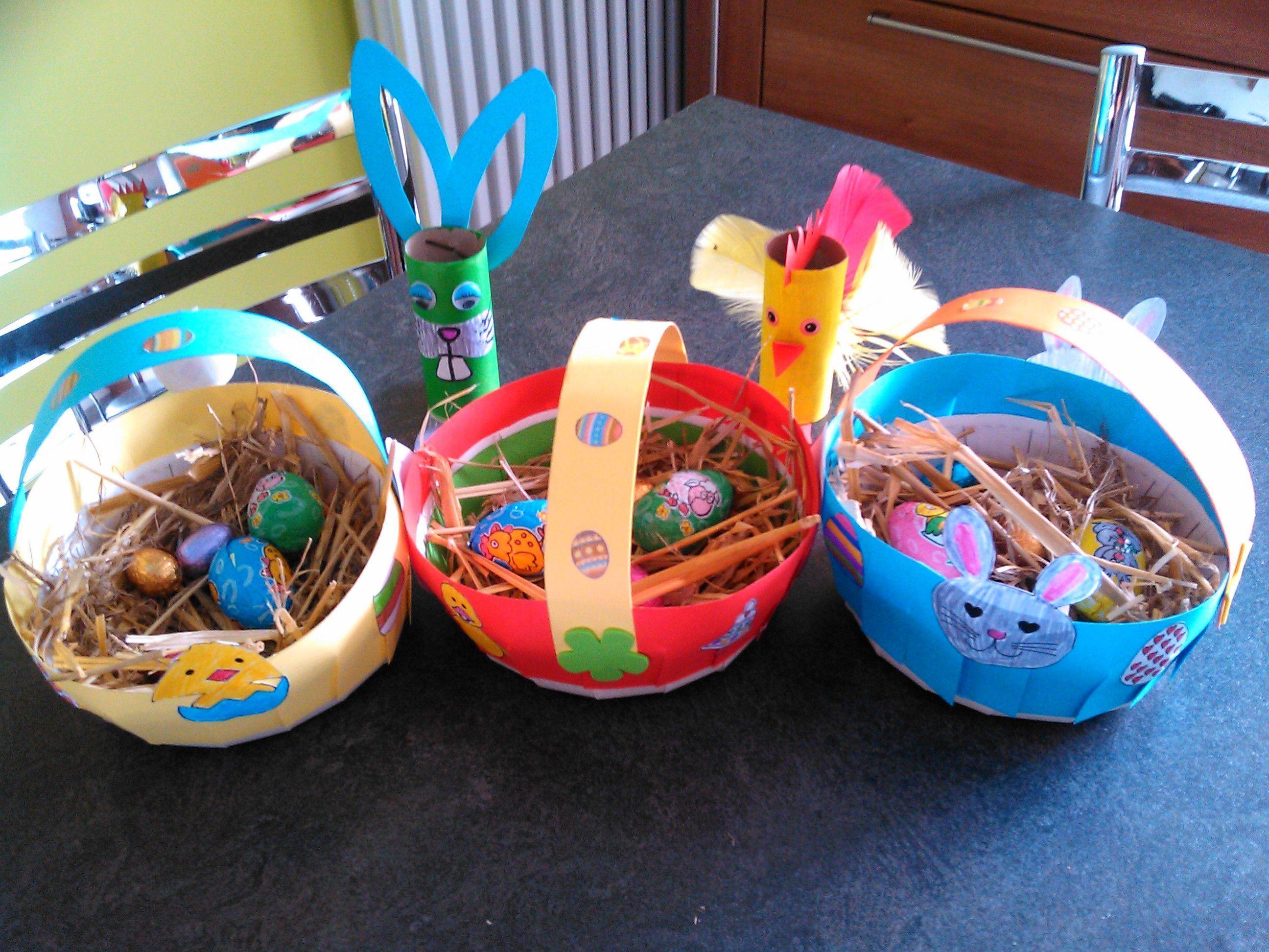 Petits paniers pour ramasser les oeufs chez maria - Quand ramasser les oeufs de paques ...